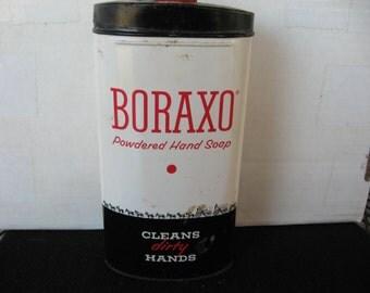 Vintage BORAXO powdered hand soap powder Tin  1Lb. sized