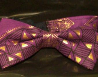 Men's Purple Pre-Tied Bow Tie
