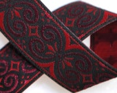 Scroll Knot Jacquard Trim 5/8 inches (16mm) wide - Three, Five, or Ten Yards