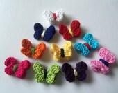 10 Assorted Mini Crochet Butterflies