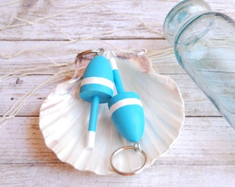 Nautical Wedding - Lobster Buoy Keychain -  Set of 3 Blue and White Wedding Favor, Hostess Gift,Lobster Buoy Wedding Favors Nautical Wedding