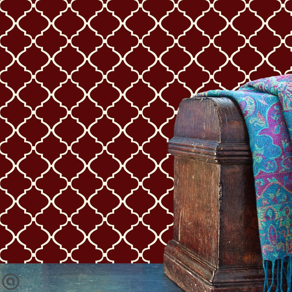 removable wallpaper moroccan lattice peel stick self. Black Bedroom Furniture Sets. Home Design Ideas
