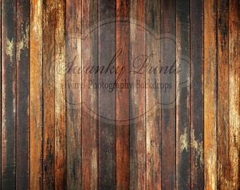 PHOTO BOOTH Backdrop 12ft x 10ft / Grungy Wood / Vinyl Photography Backdrop