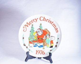 Dennis Menace Plate Christmas 1976 Collector Edition Hank Limited Ketchum Vintage Ketcham Merry Collectors Ltd Porcelain