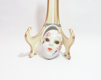 Mardi Gras Mask Ceramic Porcelain Decoration Theatrical Painted Masks New Orleans Decorative Hand