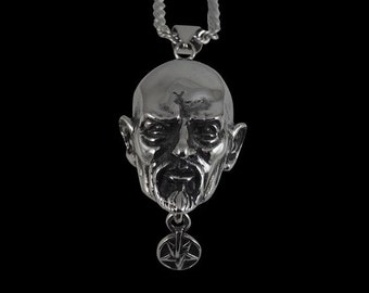 Stainless Steel Anton LaVey The Pope of the Church of Satan Pendant - Free Shipping