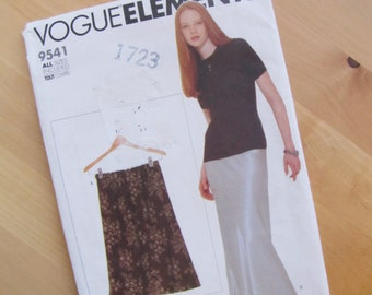 Uncut Vogue Elements 9541 Sewing Pattern - Misses Petite Skirt - All Sizes (xs - xl)