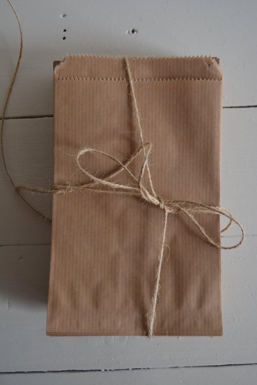 Bundel van 100 kleine bruine kraft papieren zakjes door for Papieren kraft zakjes