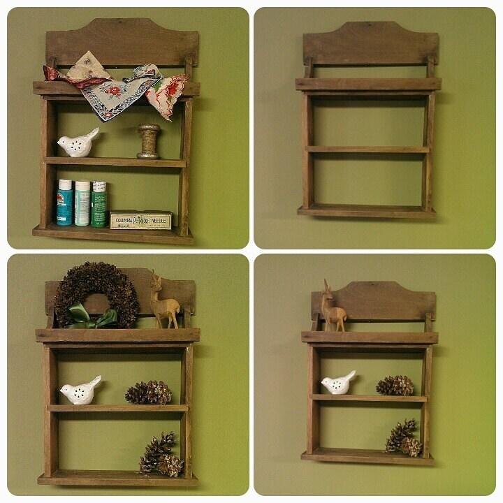 Handmade Spice Rack: Primitive Handmade Shelf/Spice Rack