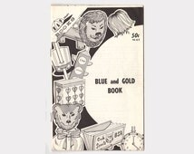 Kap Kraft Book, 1971 Blue and Gold Book, Boy Scouts of America, Cub Scouts Den, Vintage Craft Book, Crepe Paper Crafts, Novelty Straws