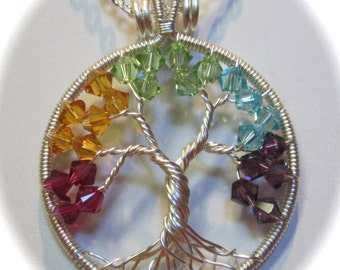 Mother's Day Birthstone Tree of Life with Swarovski Crystals, Tree of Life Custom Made for any Birth Month or Combination