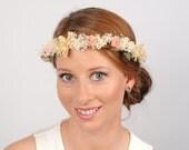 Babys Breath Crown, Woodland Headband, Wedding Flower Crown, Hair Garland, Boho Headpiece, Woodland Crown, Wedding Flower Headband