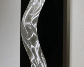 Wilmos Kovacs - Black and Silver Metal Wall Art 3D Home Decor Sculpture - W817