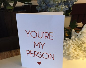Valentine's Day Card My Person