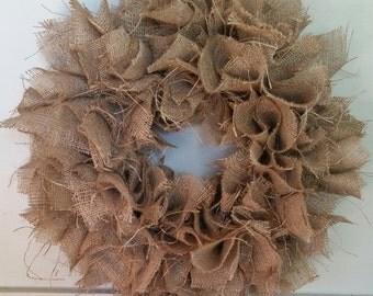 Burlap Wreath