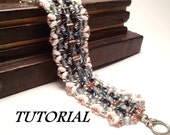 How to make beaded bracelet Starway, bracelet TUTORIAL with Superduo and seed beads