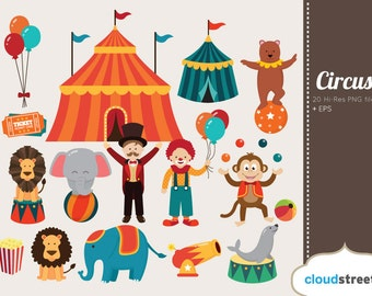 BUY 2 GET 1 FREE Circus clipart - circus clip art - clown clipart - carnival clipart - carnival clip art - clown clip art -commercial use ok