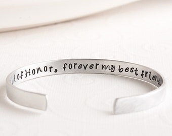 Maid of Honor Bracelet - Maid of Honor Gift - Forever My Best Friend Bracelet - Gift for Maid of Honor - Matron of Honor Jewelry