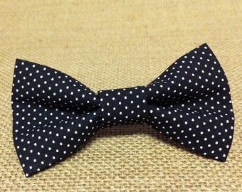 Classic Black and White Polka Dot Baby Boy Bow Tie
