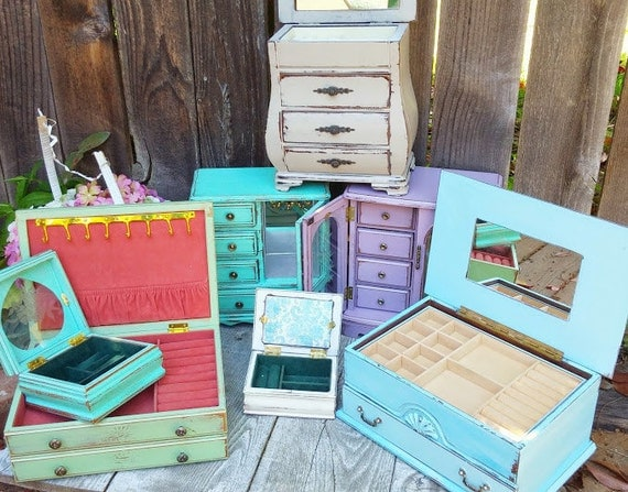 Wholesale Jewelry Boxes Shabby Chic Rustic By Huckleberryvntg