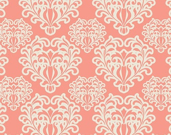 Art Gallery Fabric - Essentials - Passionate Spirit Salmon - Patricia Bravo-Choose Your Cut 1/2 or Full Yard