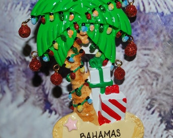 Personalized Palm Tree Christmas Ornament
