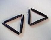 Pembe Bone Triangle Earrings