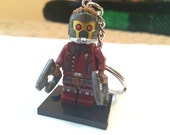 Handmade Guardians of the Galaxy ( Quill ) Minifigure Keychain