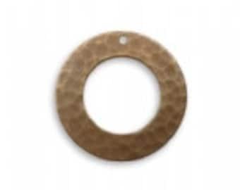 Vintaj Hammered Ring & Bead Pod Bar Toggle Clasp Set