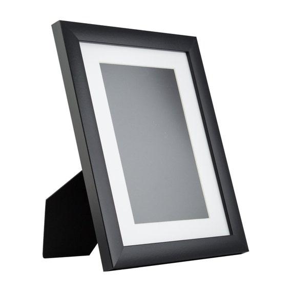 craig frames inch modern black picture frame mat with 6x9 inch single opening. Black Bedroom Furniture Sets. Home Design Ideas
