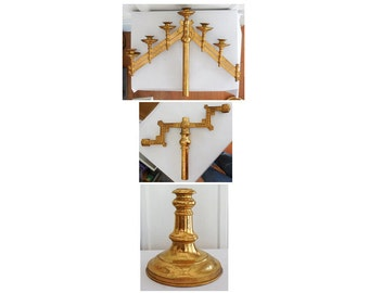 Brass Candelabra Parts 1800's Victorian Neoclassical Style
