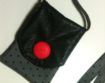 Faux suede mini bag