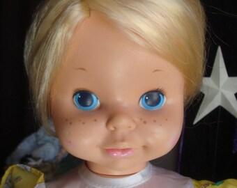 Vintage 1969 Mattel Tell Time doll