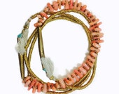 Sand and Sea Strands // One of a Kind Spring Beachcomber Strand Necklaces