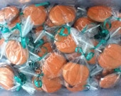 24 pumkins Halloween fall leaves chocolate lollipops