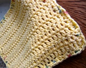 Yellow Dishcloth - Crocheted Dishcloth - Yellow 100% Cotton Dish Cloth