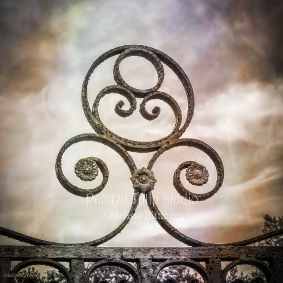 Rustic Scroll: Rustic Wrought Iron Scroll Work Architecture By