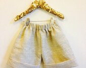 DANCE 3-4 Years Kids Childrens Shorts Pants Culottes Linen Cotton Upcycled Handmade Vintage Style Unisex