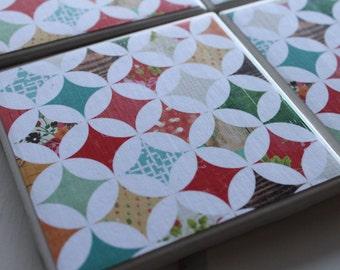 Diamond Coasters Four Piece Ceramic Tile Set