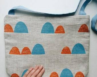 linen blockprint mesenger bag
