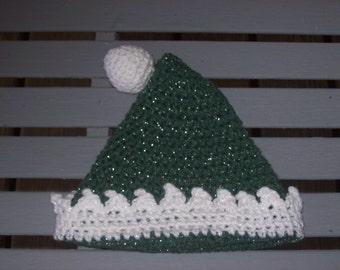 Green,White,Hat,Ball,Holiday,Boys,Girls,Babies,Photo Prop,Children,Gift,Crocheted