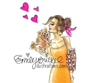 Custom Fashion Illustration print of a previously drawn illustration By Emily Brickel