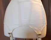 ON SALE Girdle 1960's-1970's Women's Cincher Nylon Elastic Stocking Clips Hooks and Eyes Boning Underwear Lingerie Undergarments Supportive