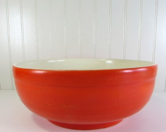 Vintage Orange Ceramic Bowl - Kitchen Bowl