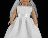 Handmade 18 Inch American Girl Daisy Vine Organza First Communion, Wedding, or Flower Girl Dress 2