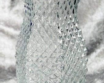 Vintage Hoosier Glass #4071 Hobnail Vase