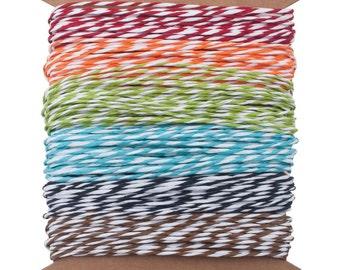 Tim Holtz Idea-ology Striped Paper  Baker's Twine Sampler, 5 Yards ea of 6 Colors