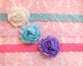 Lace headband set/ Newborn headband/ baby headband