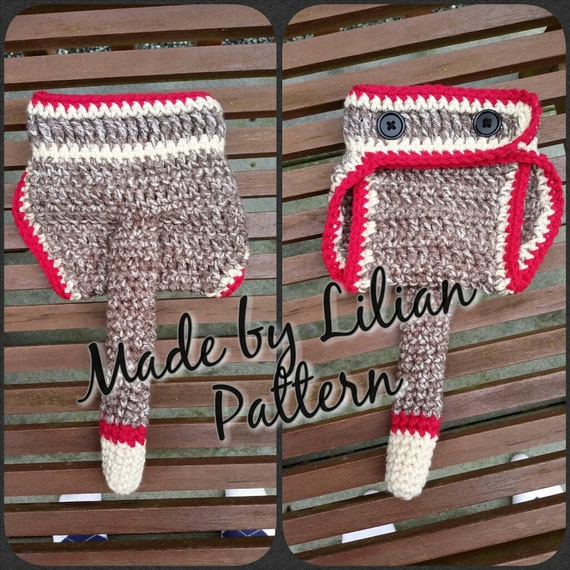 50 Off Coupon On Crochet Pattern Sock Monkey Diaper Cover