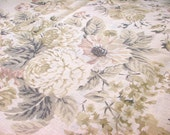 Champagne Floral--Garment Weight Linen--Linen Printed Fabric Provence style--Romantic Floral Print--All DIY Projects
